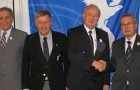 Den nye bestyrelse i General Aviation Commission. Fra venstre er det Andrzej OSOWSKI, Jiri DODAL, Hans SCHWEBEL, Hans GUTMANN, Pedro CABAÑERO MARIMÓN og Vagn JENSEN