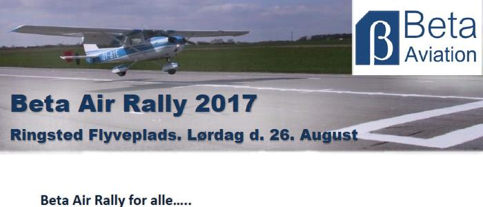 Invitation til Beta Air Rally 2017 i Ringsted