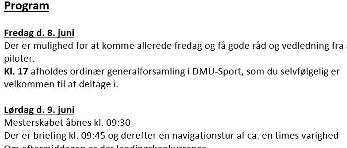 Invitation til DM i Herning