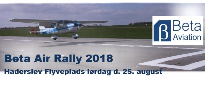 Invitation til Beta Air Rally i Haderslev